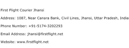 First Flight Courier Jhansi Address Contact Number