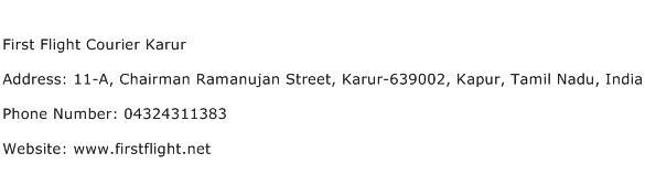 First Flight Courier Karur Address Contact Number