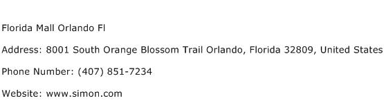 Florida Mall Orlando Fl Address Contact Number