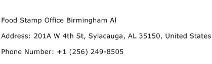 Food Stamp Office Birmingham Al Address Contact Number
