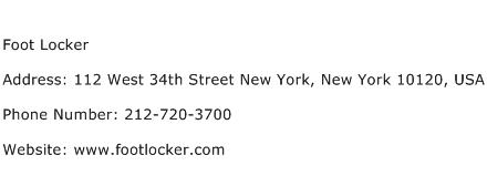 Foot Locker Address Contact Number
