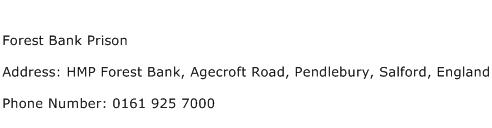 Forest Bank Prison Address Contact Number
