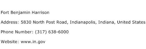 Fort Benjamin Harrison Address Contact Number