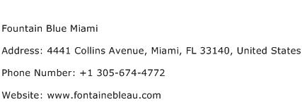 Fountain Blue Miami Address Contact Number