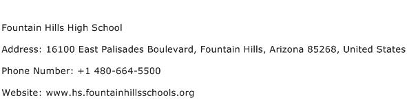 Fountain Hills High School Address Contact Number