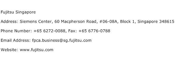 Fujitsu Singapore Address Contact Number