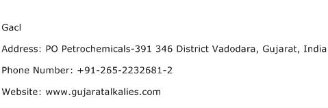 Gacl Address Contact Number