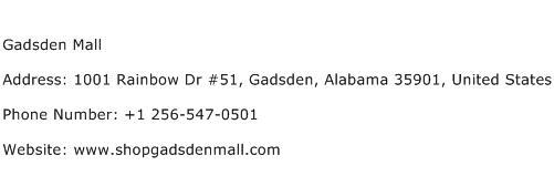 Gadsden Mall Address Contact Number
