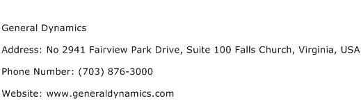General Dynamics Address Contact Number