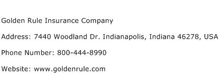 Golden Rule Insurance Company Address Contact Number