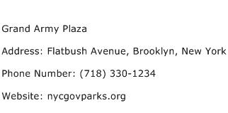 Grand Army Plaza Address Contact Number