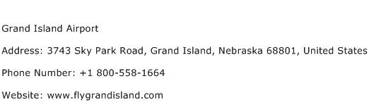 Grand Island Airport Address Contact Number