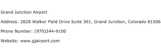 Grand Junction Airport Address Contact Number