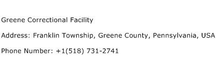 Greene Correctional Facility Address Contact Number