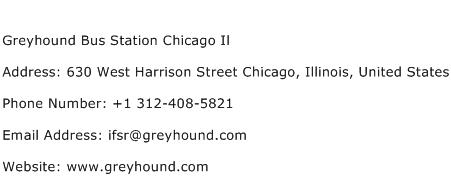 Greyhound Bus Station Chicago Il Address Contact Number