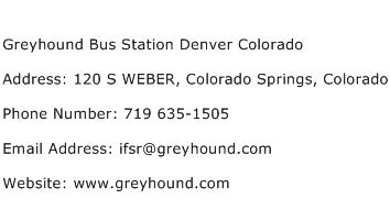 Greyhound Bus Station Denver Colorado Address Contact Number
