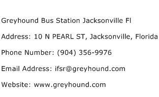 Greyhound Bus Station Jacksonville Fl Address Contact Number