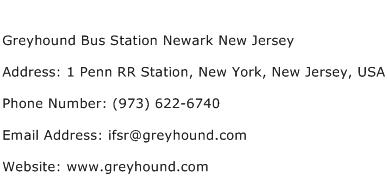 Greyhound Bus Station Newark New Jersey Address Contact Number