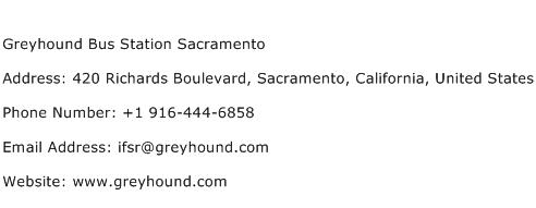 Greyhound Bus Station Sacramento Address Contact Number