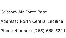 Grissom Air Force Base Address Contact Number