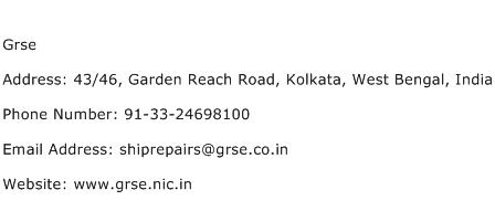 Grse Address Contact Number