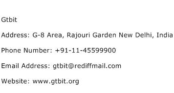 Gtbit Address Contact Number
