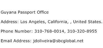 Guyana Passport Office Address Contact Number