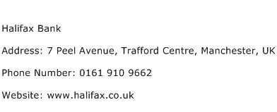 Halifax Bank Address Contact Number