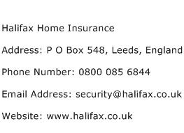 Halifax Home Insurance Address, Contact Number of Halifax ...