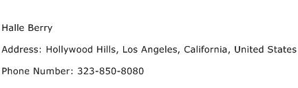 Halle Berry Address Contact Number