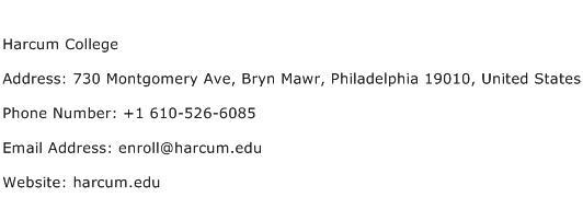 Harcum College Address Contact Number