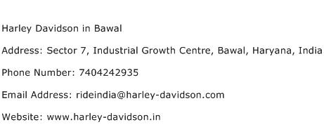 Harley Davidson in Bawal Address Contact Number
