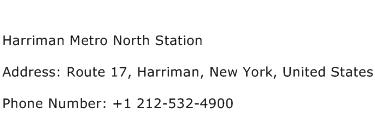 Harriman Metro North Station Address Contact Number