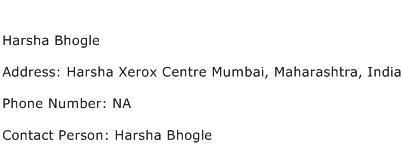 Harsha Bhogle Address Contact Number