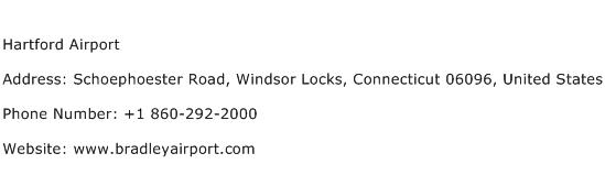 Hartford Airport Address Contact Number