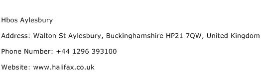 Hbos Aylesbury Address Contact Number