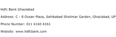 Hdfc Bank Ghaziabad Address Contact Number