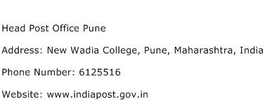 Head Post Office Pune Address Contact Number