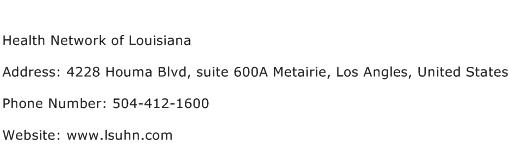 Health Network of Louisiana Address Contact Number