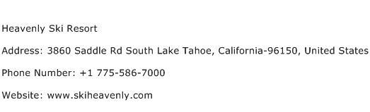 Heavenly Ski Resort Address Contact Number