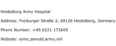 Heidelberg Army Hospital Address Contact Number