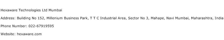 Hexaware Technologies Ltd Mumbai Address Contact Number