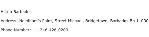 Hilton Barbados Address Contact Number