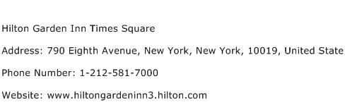 Hilton Garden Inn Times Square Address Contact Number