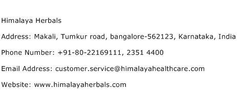 Himalaya Herbals Address Contact Number