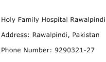 Holy Family Hospital Rawalpindi Address Contact Number