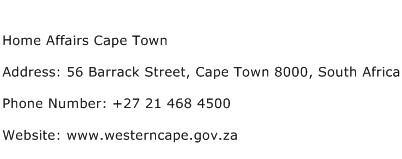 Home Affairs Cape Town Address Contact Number