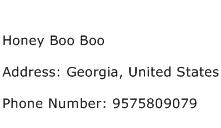 Honey Boo Boo Address Contact Number