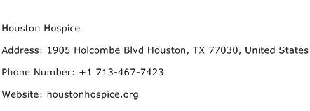 Houston Hospice Address Contact Number