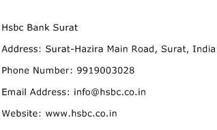 Hsbc Bank Surat Address Contact Number